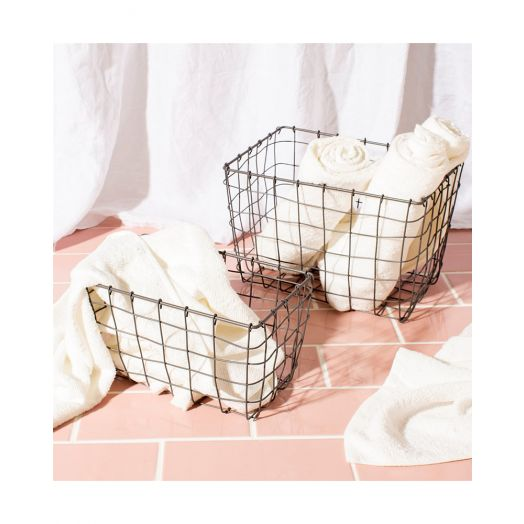 Sass and Belle | Industrial Wire Baskets Set Of Two