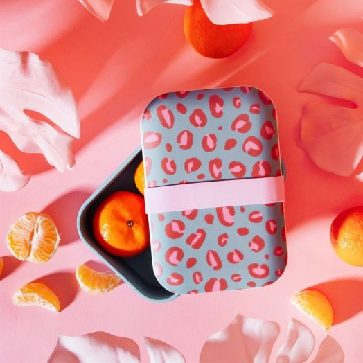Sass and  Belle | Leopard Love Bamboo Lunchbox